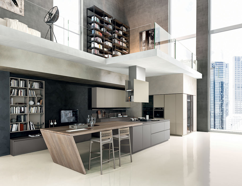 Marzua materika cocina con puertas de acero inoxidable for Accesorios de cocina de diseno
