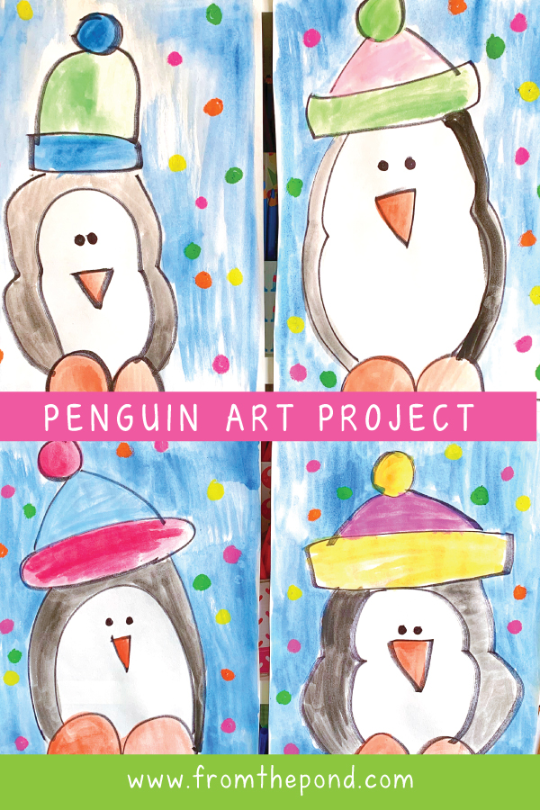 Winter Directed Drawing : winter, directed, drawing, Pond:, Penguin, Project