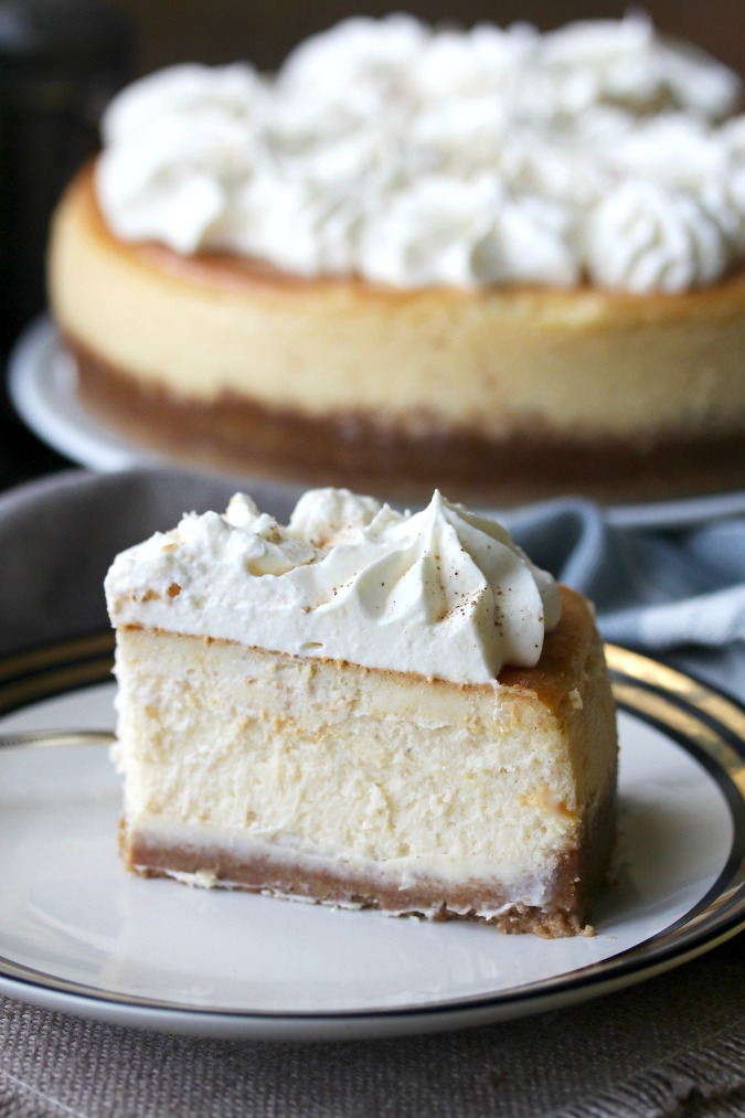 Egg Nog Cheesecake #eggnog #cheesecake
