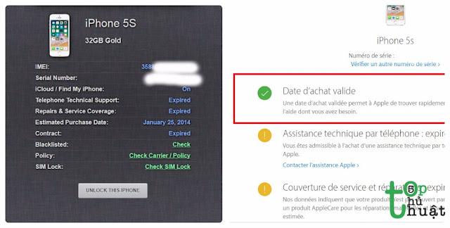 Cách kiểm tra iPhone Active ngày nào, kích hoạt ngày nào