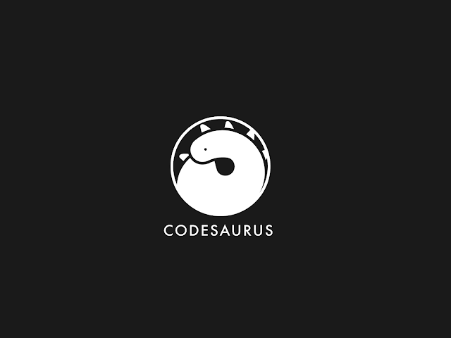 Logotype Codesaurus white