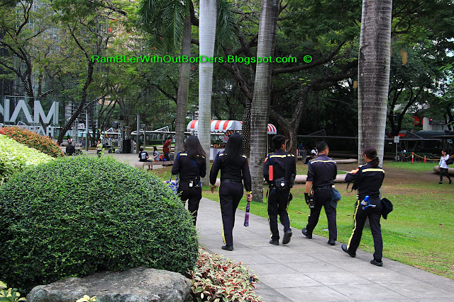 security guards, Ayala Triangle Park, Makati, Manila, Philippines