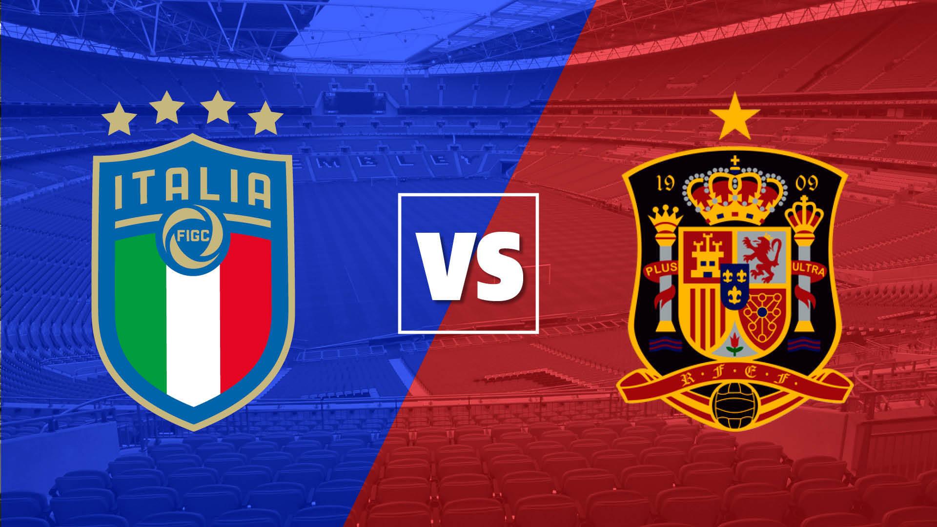 مباراة ايطاليا واسبانيا اليوم