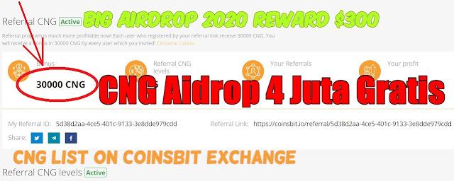 CNG Airdrop Reward 4 Juta Rupiah Gratis