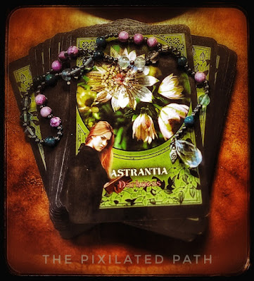 Astrantia Card from Flower Magic Oracle Cards by Rachel Patterson