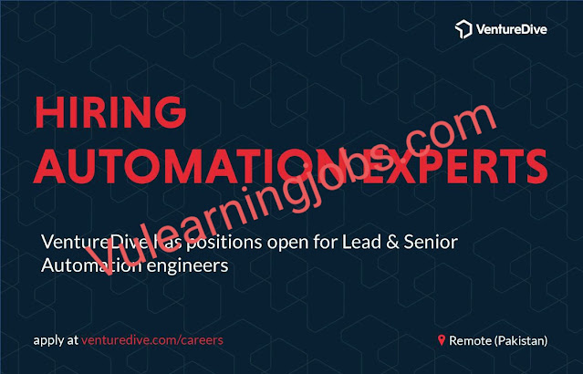 VentureDive Jobs 2020 In Pakistan For Automation Experts Latest