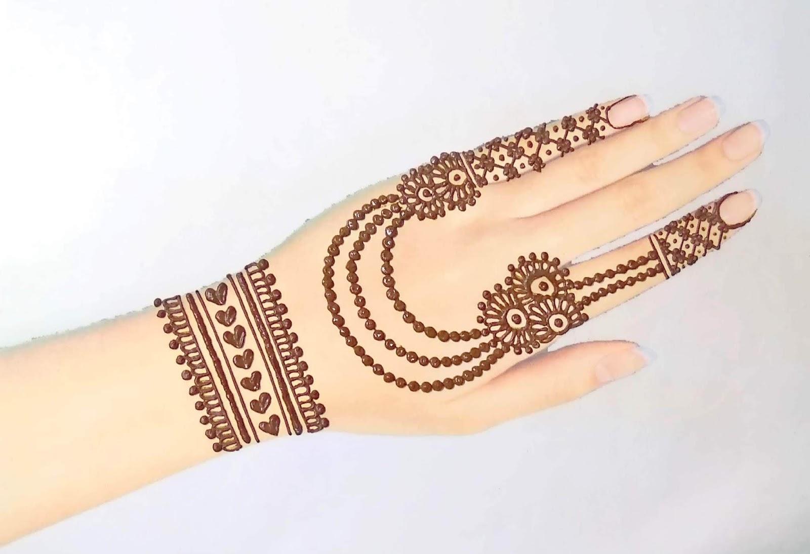 Water Drop Style Jewellery Mehndi