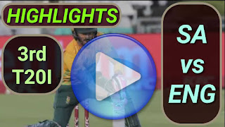SA vs ENG 3rd T20I 17th February 2020
