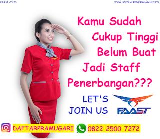 Tinggi Ideal Menjadi Staff Penerbangan Semua Maskapai Penerbangan