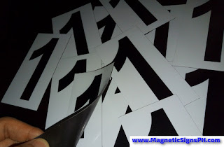 Magnetic Labels - Number One