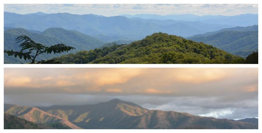 Belle vue sur les Smoky Mountains