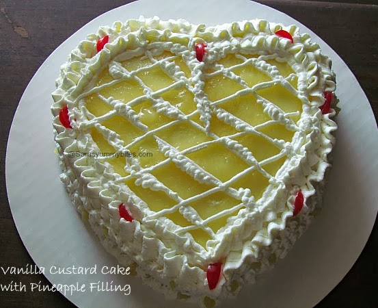 Vanilla Custard Cake with Pineapple Filling