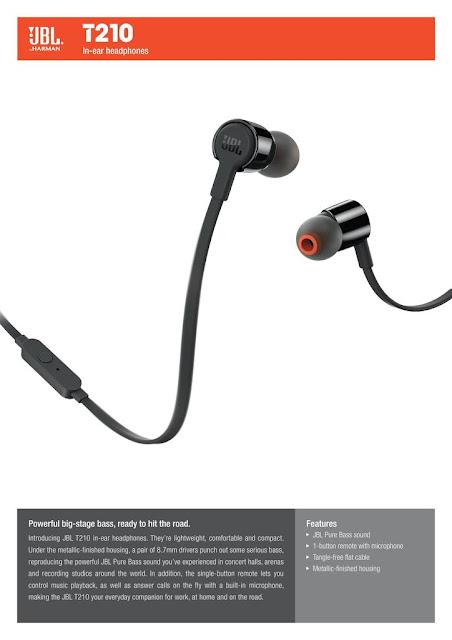 JBL T210 In-Ear Headphone Lazada Malaysia Price