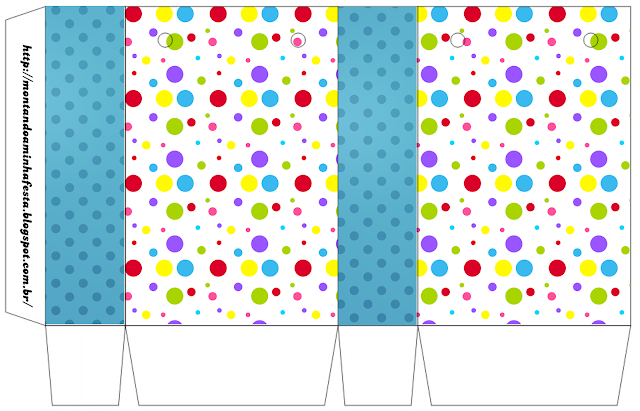 Sweet 16 Colored Dots Free Printable Box.