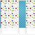 Sweet 16 Colored Dots: Free Printable Boxes.