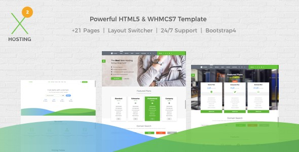 X-DATA WHMCS7 And HTML5 Powerful Web Hosting Template