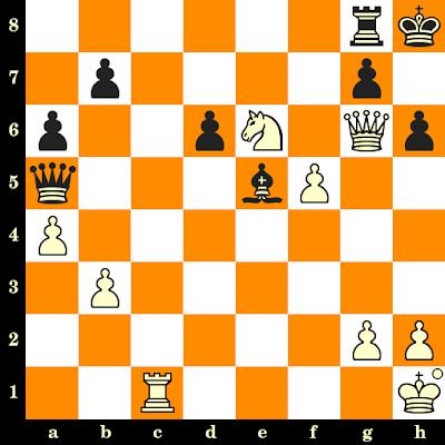 Les Blancs jouent et matent en 3 coups - Manakly Tabba vs Y Hadjittofis, Skopje, 1972
