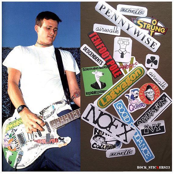 Tom Delonge guitar stickers