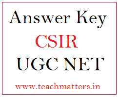 image : CSIR UGC NET Answer Key & Question Papers @ TeachMatters