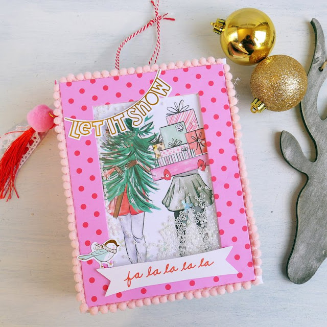 [Scrapbooking] Christmas Shaker Album - Mini Album di Natale con copertina shaker – VIDEO TUTORIAL