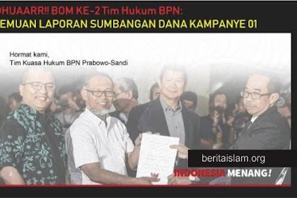 LAGI! Serangan Mematikan Tim Kuasa Hukum Prabowo Sandi, Temuan Laporan Sumbangan Kampanye 01