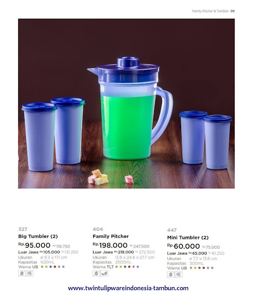 Big Tumbler, Family Pitcher, Mini Tumbler