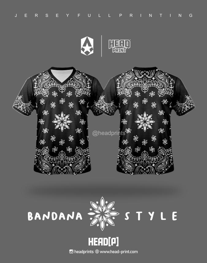 Bandana Style Jersey Full Printing Custom - Jersey Satuan Jogja