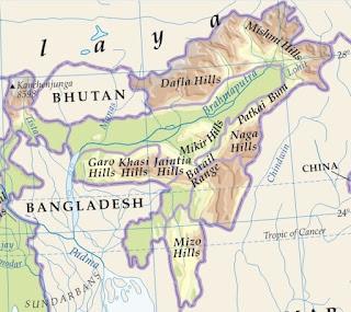 Barail Range map
