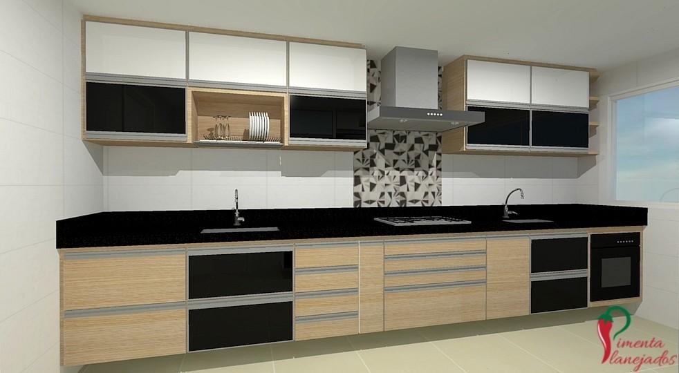 Cozinha corredor + 5 dicas para otimizar o espaço ~ Pimenta Planejados # Cozinha Planejada Tipo U