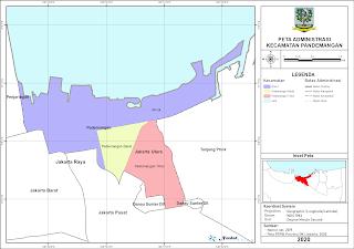 Peta Administrasi Kecamatan Pandemangan, Kota Jakarta ...