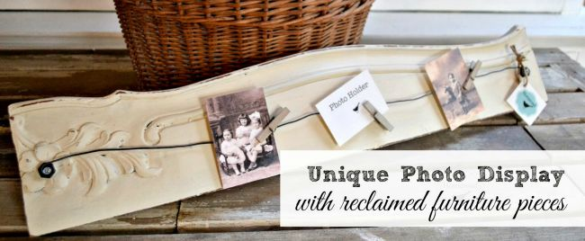 Repurposed Table & Chair Photo Displays
