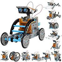 Solar powered robot toys for kids, easylivingkey, best gift item