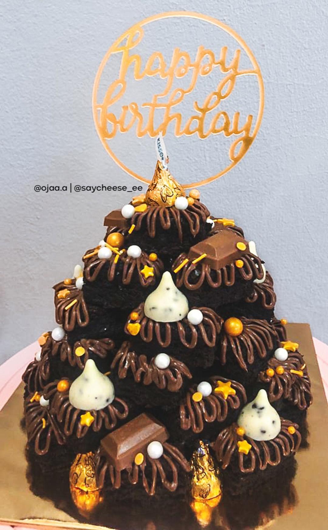 Brownies Tower Decoration Untuk Birthday
