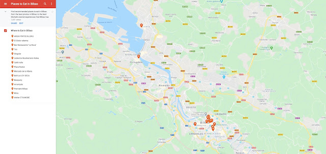 Where to Eat in Bilbao Food Map