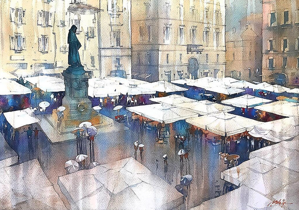 10-Rainy-Day-Rome-Thomas-Schaller-Watercolor-Paintings-Indoors-and-Outdoors-www-designstack-co
