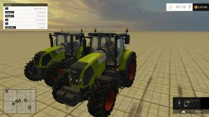 Claas Axion 830FL and 850 tractors pack