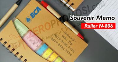 Notebook Ruler + Post It (N-806), Notebook Ruler Post It, Notes Ruler N-806 untuk souvenir dengan custom logo, Souvenir Memo, Sticky Note, dan Agenda, Jual Memo Post-It & Sticky Notes, NOTEBOOK RULER+POST IT, Memo Pad With Pen / Ruler (N-806).