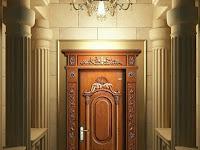 Gambar Pintu Rumah 1 Daun | Warna Cat Pintu Rumah