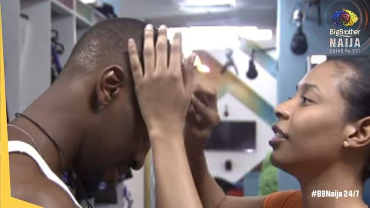 BBNaija: Nini surprises Saga this morning, check out what she did to him