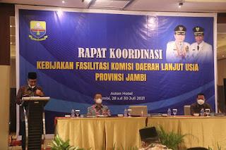 Wakil Gubernur Abdullah Sani Ungkapkan Butuh Masukan dan Pemikiran dari Komda Lansia