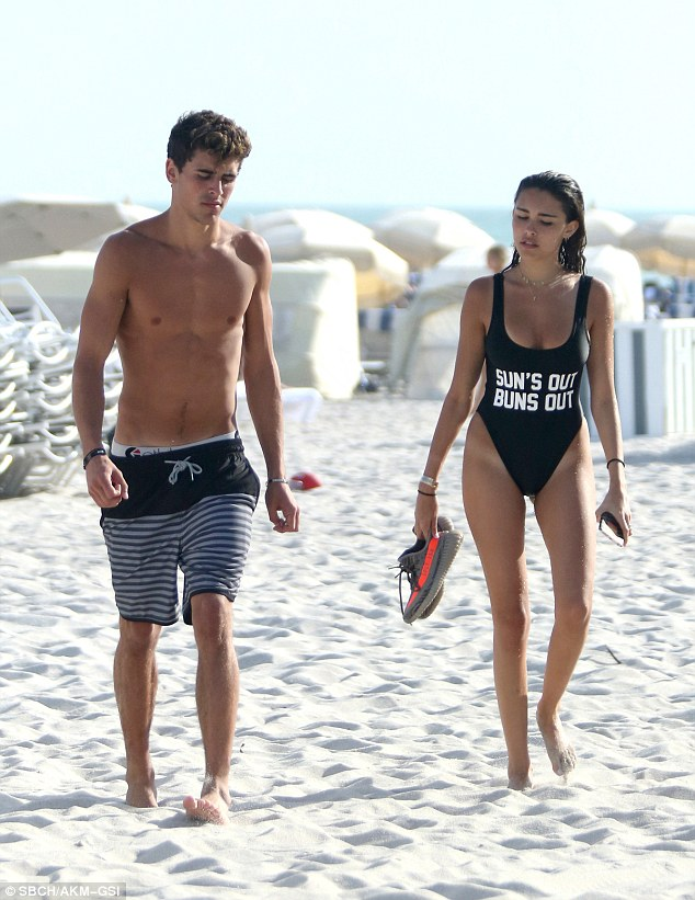 Madison Beer flaunts curves on beach holiday with boyfriend