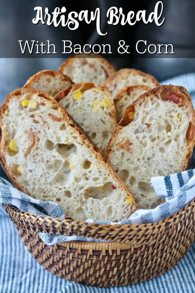 Artisan Bread with bacon and corn