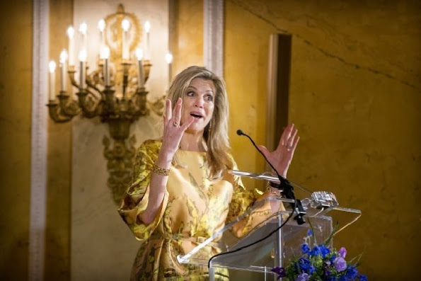 King Willem-Alexander of The Netherlands, Queen Maxima of The Netherlands and Princess Beatrix attended the award ceremony of the Appeltjes van Oranje at Palace Noordeinde