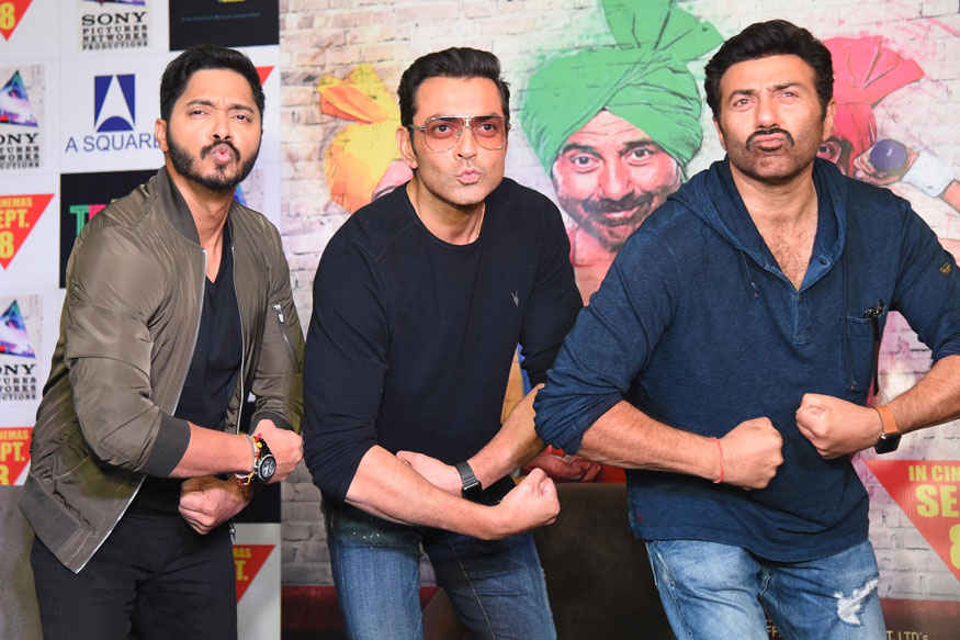 Shreyas Talpade, Sunny and Bobby Deol Promote Film 'Poster Boys' in Delhi