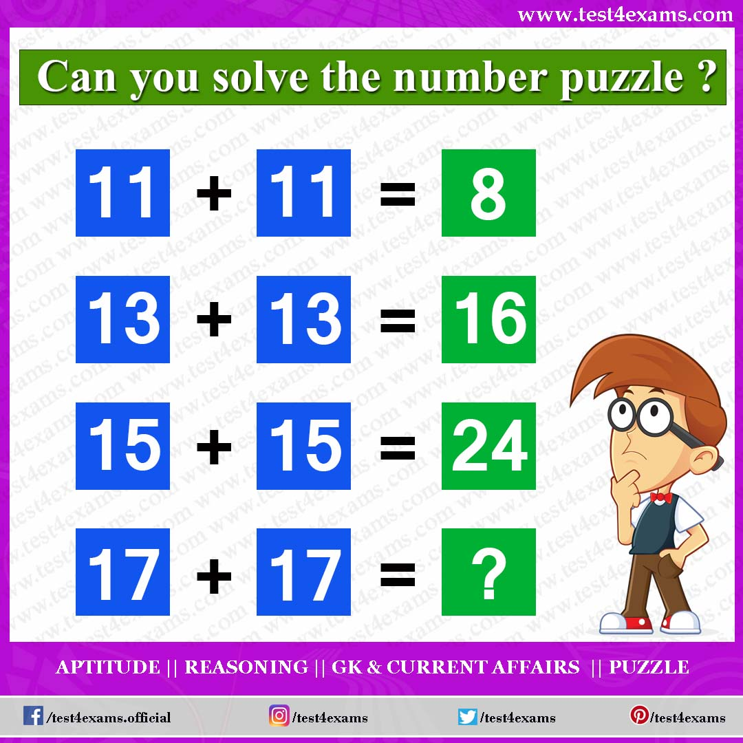 10 Best Math Puzzles With Answers In 2020 Brain Puzzle Test 4 Exams