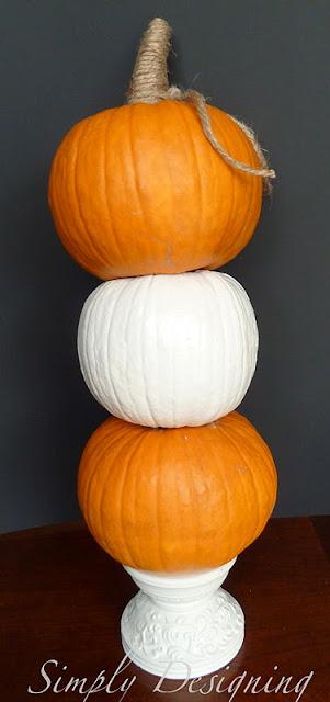 Pumpkins+01 Gold Pumpkin Vase Filler {Pottery Barn Knock-Off} 2 gold pumpkin
