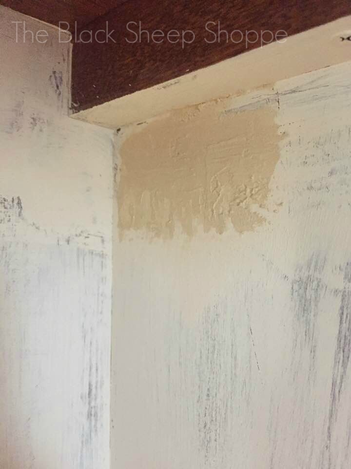 Use wood filler to help paint adhere.
