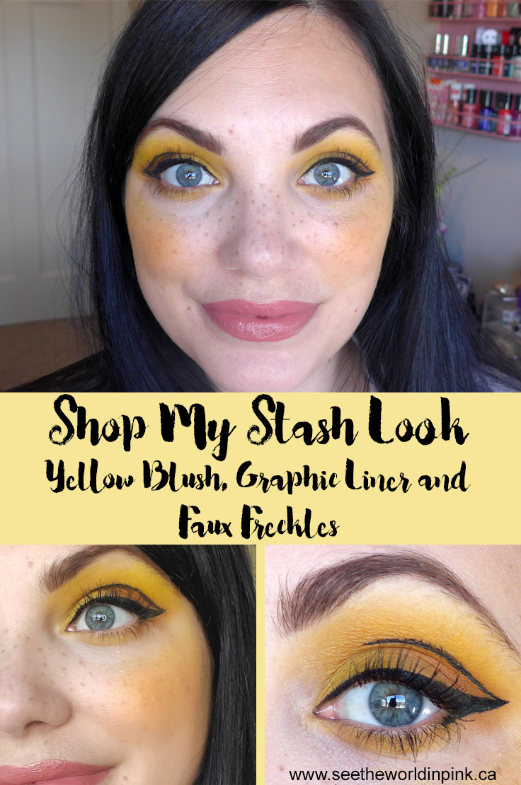 May Shop My Stash - Yellow Blush, Graphic Liner and Faux Freckles