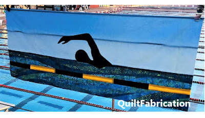 silhouette of a swimmer