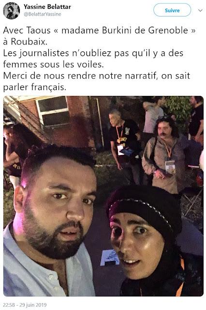 Le populiste Yassine Belattar pose avec l'islamiste Taous Hammouti